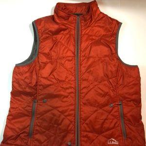 Women's LL Bean Vest xl petite fleece lined